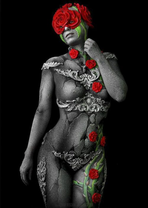 Bodypainting_Hamburg_rose