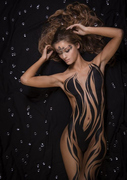 Bodypainting_strass_black