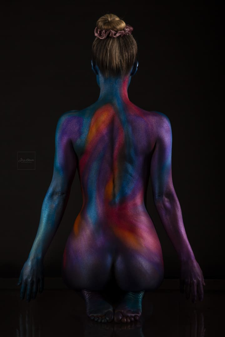 FineArt Bodypainting, stille Pose